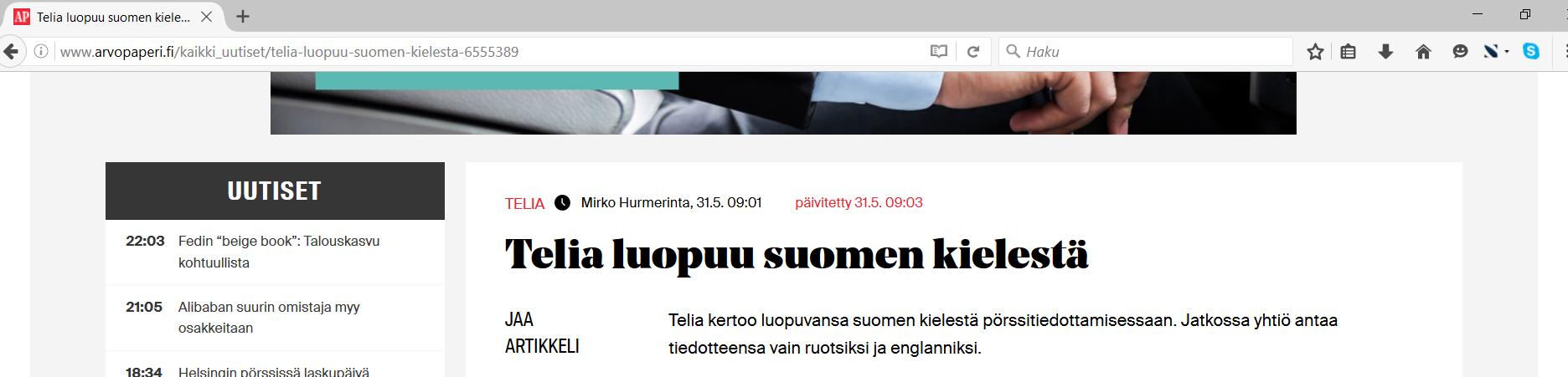 kielibaari.fi | Vain ruotsiksi ja englanniksi